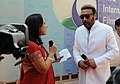 Actor, Jackie shroff briefing the media on the Red Carpet at the closing ceremony of the 43rd International Film Festival of India (IFFI-2012), in Panaji, Goa on November 30, 2012.jpg