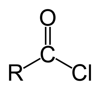 Acyl chloride - General chemical structure of an acyl chloride