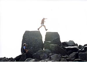 Tryfan - Jumping from Adam to Eve at the summit of Tryfan