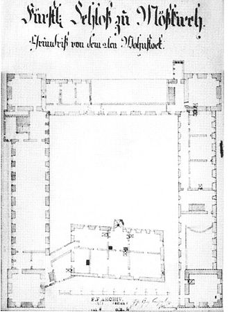 Meßkirch Castle - Plan of the second storey around 1820