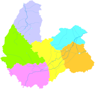 Shuozhou - Image: Administrative Division Shuozhou