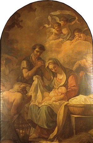 Étienne de La Vallée Poussin - Adoration des bergers by Étienne de La Vallée Poussin