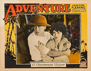 Adventure (1925 film) - lobby card.