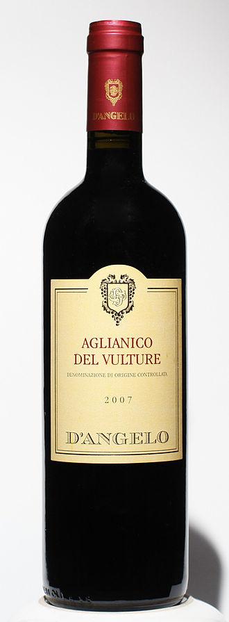 Aglianico - A bottle of Aglianico del Vulture
