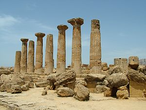 Heracles - Temple to Heracles in Agrigento