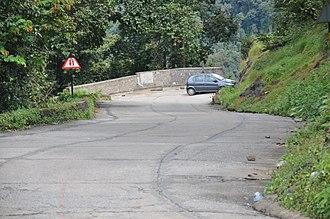 Agumbe - Hairpin turn (Bend) 7/14- Agumbe Ghat