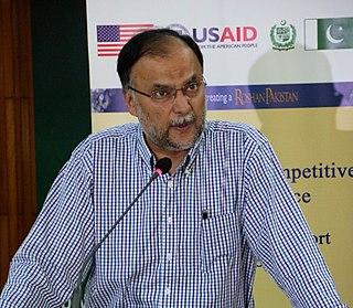 Ahsan Iqbal politician in Pakistan