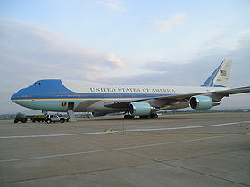 Air Force One on Zagreb Airport.JPG