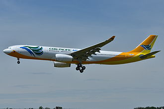 Cebu Pacific - Image: Airbus A330 300 Cebu Pacific AL (CPI) F WWTR MSN 1420 Will be RP C3341 (9645828995)
