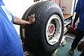 Aircraft tires at Osmani International Airport.jpg