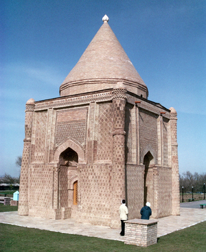 Taraz - The partially restored mausoleum of Ayshah Bibi near Taraz