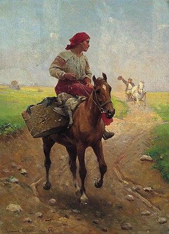Zygmunt Ajdukiewicz - Image: Ajdukiewicz Zygmunt.Z Gesiami Na Targ.1894