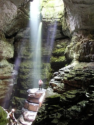 Caving - Stephens Gap, a vertical cave in Alabama.