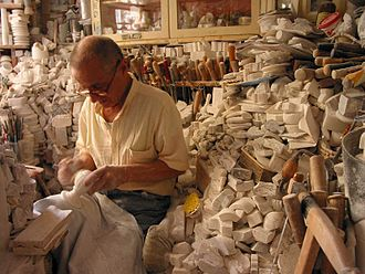 Alabaster - Alabaster workshop in Volterra, Italy