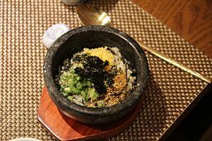 Albap - Albap served in dolsot (stone pot)