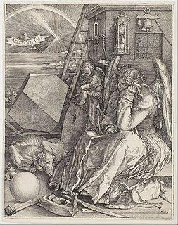 <i>Melencolia I</i> 1514 engraving by Albrecht Dürer
