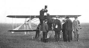 Alec Ogilvie's Wright Model R being refuelled at the Eastchurch Gordon Bennett Trophy, 1911.png