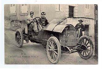 Alessandro Cagno -  Cagno driving Itala (63-300)
