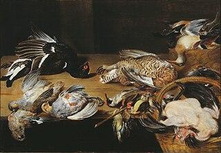 Nature morte avec oiseaux morts