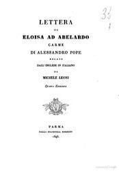 Alexander Pope: Lettera di Eloisa ad Abelardo