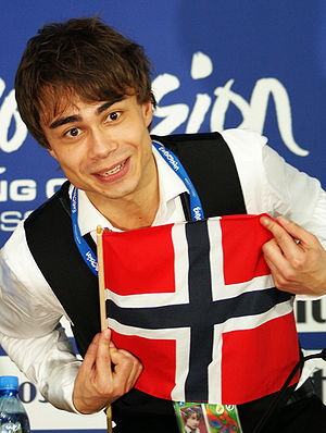Alexander Rybak at the Eurovision press confer...