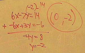 Elementary algebra - A typical algebra problem.