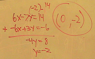 Elementary algebra - A typical algebra problem.