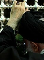 Ali Khamenei in shrine of Ali al-Ridha (2016) 01.jpg