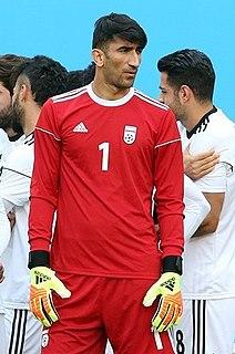 Alireza Beiranvand Iranian footballer