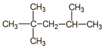 Lewis structure for an alkane.