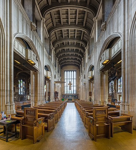 The interior of All Hallows-by-the-Tower in London