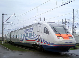 VR Group - The Allegro is used between Helsinki and Saint Petersburg