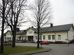 Jernbanestationen i Älmhult.