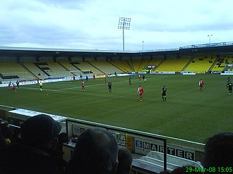History of football in Scotland - Almondvale Stadium was built to provide 10,000 seats as required at the time, however attendances rarely exceed half of that total.