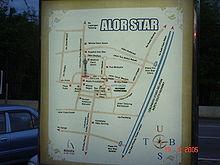 Alor Setar Wikipedia - Alor setar map
