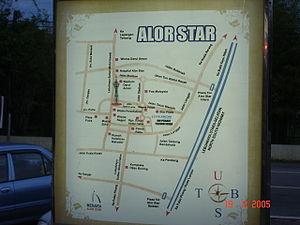 Alor star map