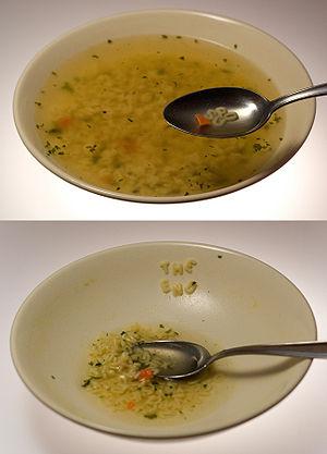 Alphabet pasta - Image: Alphabet soup