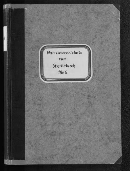 File:Alphabetisches Namensverzeichnis zum Sterberegister des Standesamtes Minden, 1966.djvu