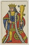 Aluette card deck - Grimaud - 1858-1890 - King of Clubs.jpg