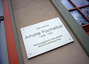 Amalia Pachelbel - Image: Amalie pachelbel erfurt