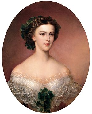 Sissi (film) - The movie is based around Elisabeth's young years 1852–1854 (portrait of the young empress shortly after her wedding, by Amanda Bergstedt)