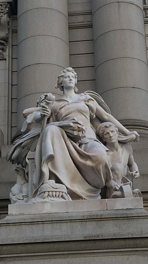 Daniel Chester French - America, one of The Four Continents at The Alexander Hamilton Custom House, Bowling Green, New York City