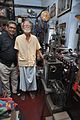 Amrit Gangar and Sushil Kumar Chatterjee with 35mm Film Portable Projector - Kolkata 2017-02-23 0482.JPG