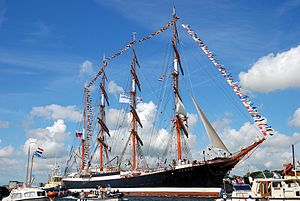STS Sedov - Sedov on the North Sea Canal during SAIL Amsterdam 2010