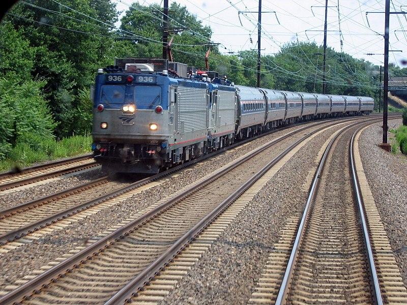 Amtrak Regional viewed from NJ Transit train