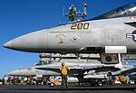 An F-A-18 Hornet and an F-A-18F Super Hornet Prepare to Launch DVIDS80466.jpg