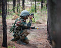 An Indian soldier uses binoculars to look ahead of a patrol during a training mission with paratroopers of the 82nd Airborne Division's 1st Brigade Combat Team.jpg