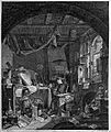 An alchemist in his untidy laboratory. Etching by L. Le Gran Wellcome L0004336.jpg