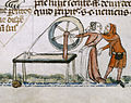 An amorous encounter - Smithfield Decretals (Decretals of Gregory IX) (c.1340), f.139 - BL Royal MS 10 E IV.jpg