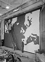 An operations map at RAF Coastal Command Headquarters at Northwood in Hertfordshire, 9 July 1943. CH10674.jpg